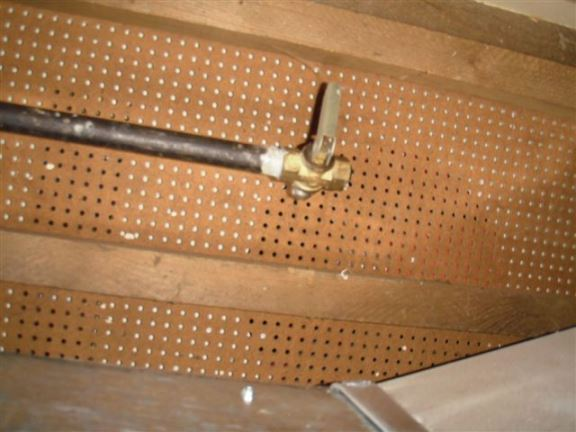 Gas lines not in use are required to be permanently capped. This one just has a shut-off valve.